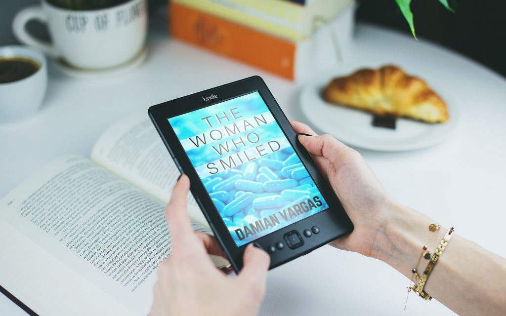 The Woman Who Smiled on a Kindle device